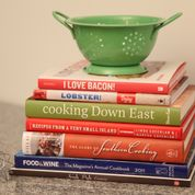 colander colorful cookbooks