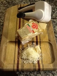 Grated Parm-Reg cheese
