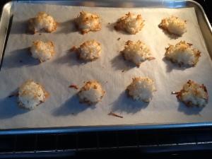 Cookies baking in oven