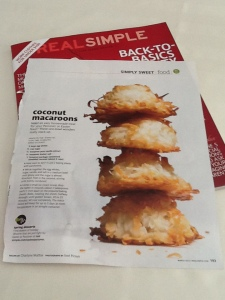 Storm day Real Simple Coconut Macaroons