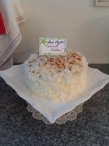 Aunt Myrtle's Coconut Cake
