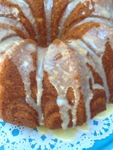 Bundt cake-orange zest glazed