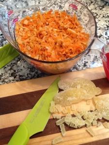 KA Carrot cake carrot strips & ginger
