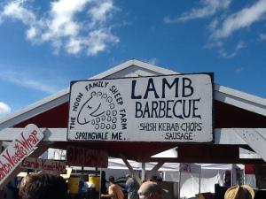 Lamb bbq sign