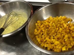 Cavolfiore gratinato sauce Pumpkin for risotta