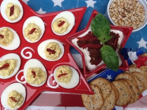 July 4th appetizers overhead