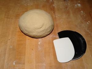 Dough kneaded in ball