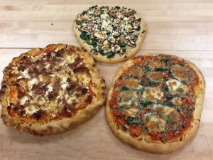 Pizza dough-assorted toppings